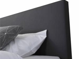 detail van een vlak boxspring hoofdbord
