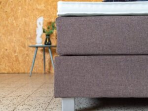 detail van boxspring box matras en topper