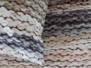 detail van dekbedovertrek en kussensloop Marte van Beddinghouse touwen patroon