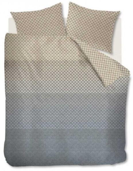 Dekbedovertrek Lunas van beddinghouse in de kleur grijs met beige