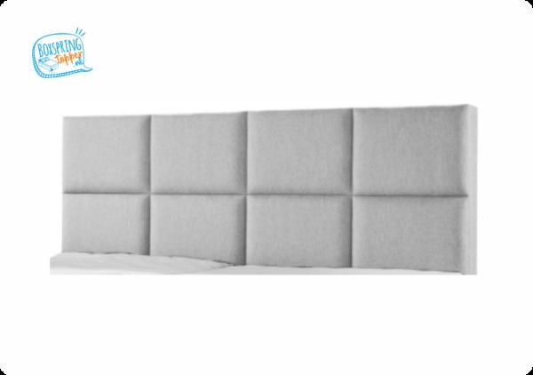 8 vlakken boxspring hoofdbord in grijs