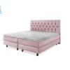 tweepersoons bed met pocketvering in de kleur roze