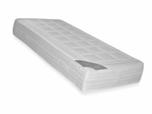 25 centimeter hoog koudschuim HR65 matras met witte tencel hoes