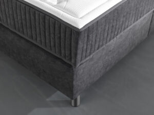 detail van boxspring nozem in velvet antraciet